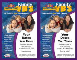 Family VBS Event Fliers